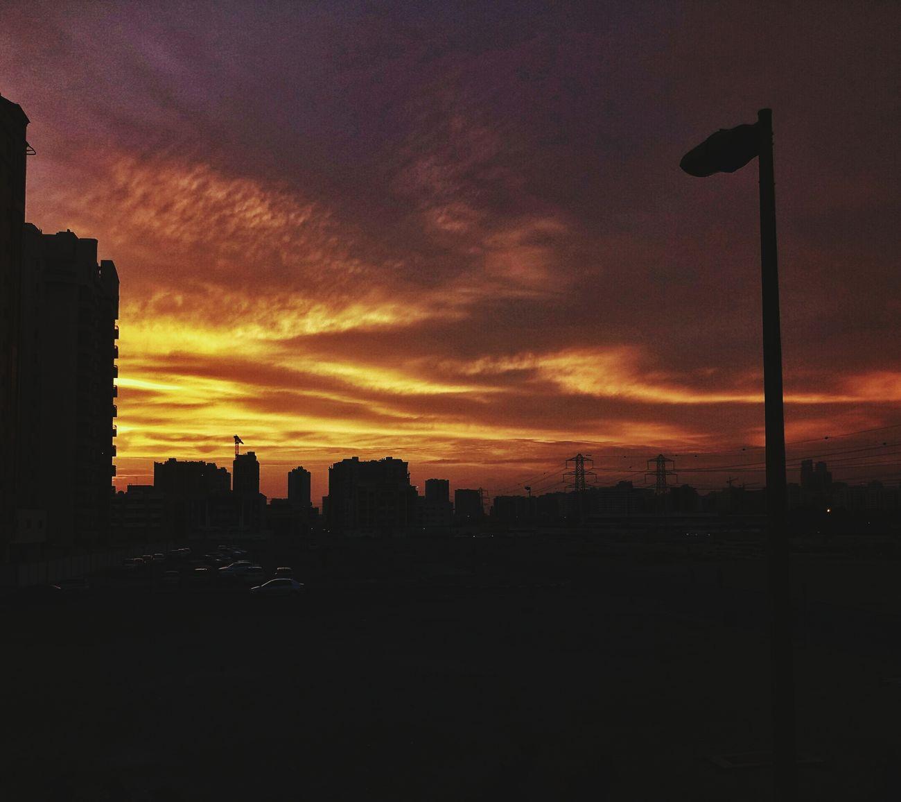 Sky Sunset Cloud - Sky Cityscape No People Outdoors Nature Sunlight Sunshine ☀ Dubai DXB Mobilephotography Sony Xperia Photography. Xperiaxaultra The Street Photographer - 2017 EyeEm Awards