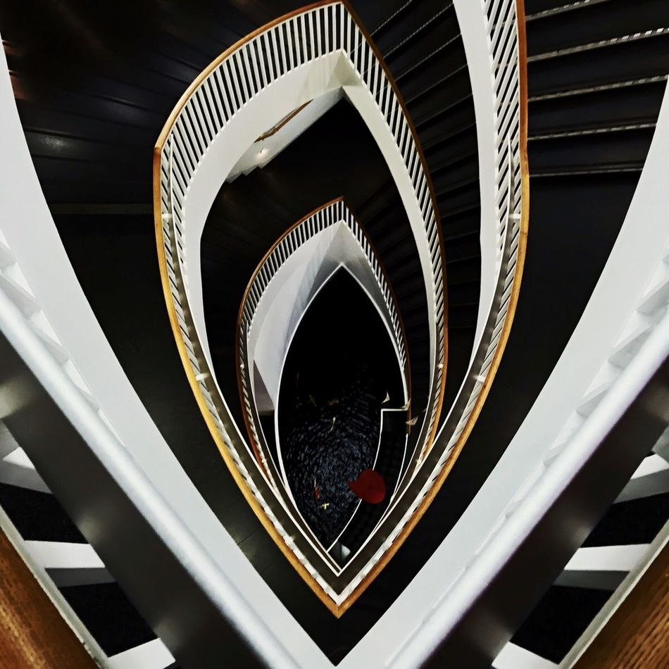 Beautiful stock photos of black, Indoors, Museum Of Contemporary Art, No People, Spiral Staircase