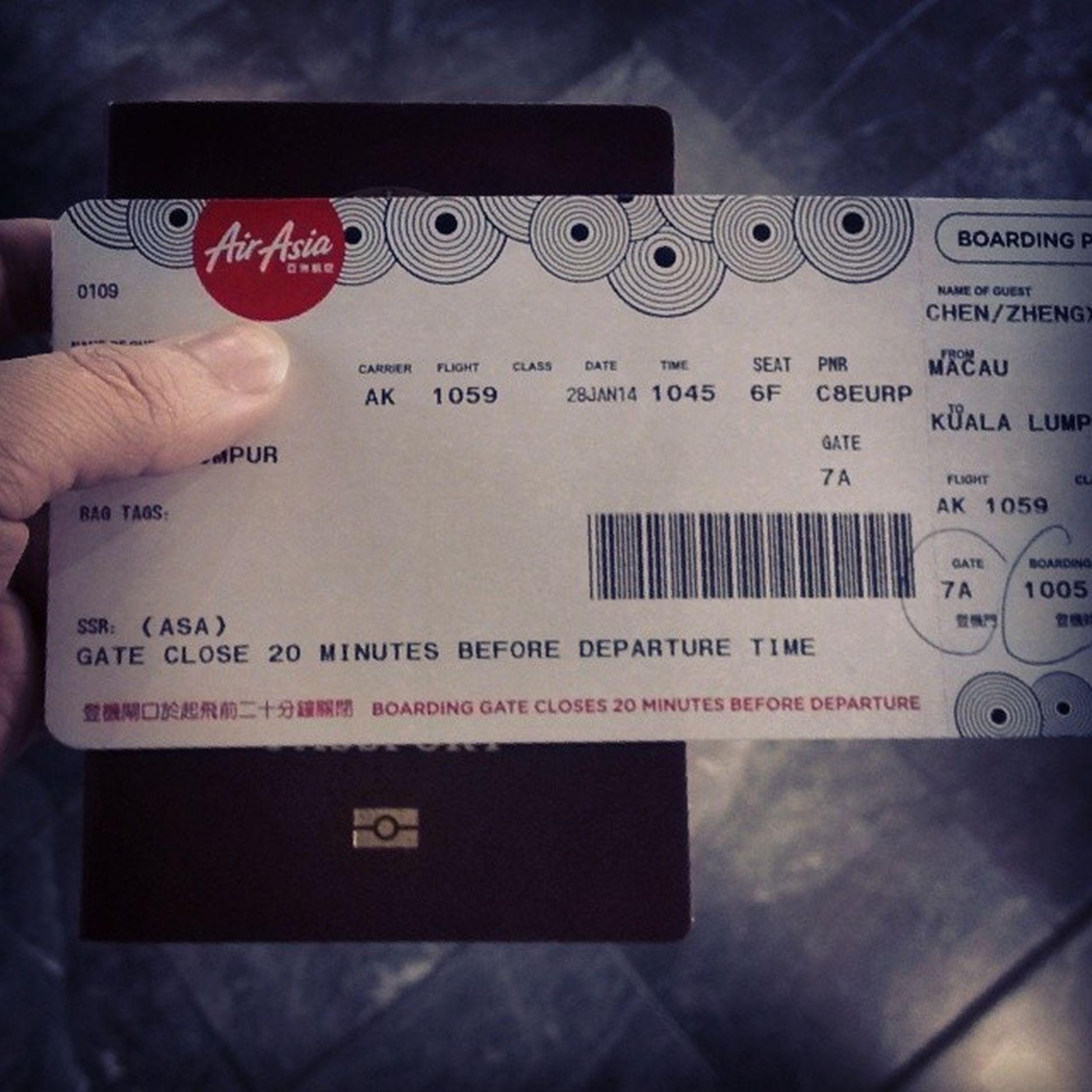 Malaysia, I'm coming!