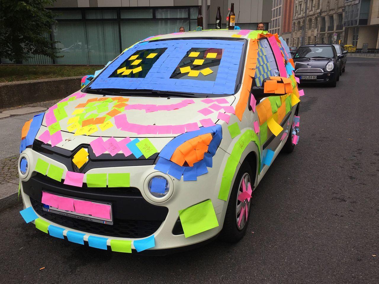 Post-it, Baby Berliner Ansichten Berlin Mitte Car Fun Party Prank