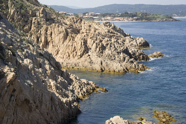 coastline on the french riviera - ramatuelle, france Bay Beauty In Nature Cliff Coastline Côte D'Azur France Geology Gulf Of Saint-tropez Landscape Landscape_Collection Landscape_photography Majestic Mediterranean Sea Nature No People Panorama Provence Rock Rock - Object Rock Formation Rocky Coastline Saint-Tropez Scenics Sea Wilderness