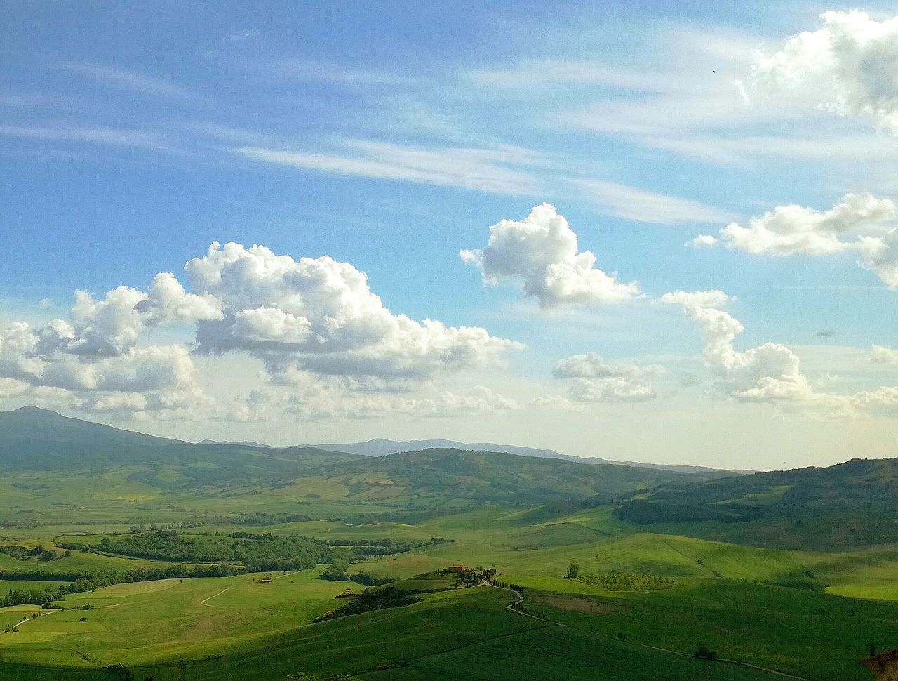 La finestra sulla val d'orcia....Pienza....The Great Outdoors - 2017 EyeEm Awards Nature Beauty In Nature Sky No People Outdoors Day Cloud - Sky Scenics Growth Rural Scene Tea Crop Freshness Tree Tuscany View Tuscany Pienza Tuscany Are Pienza (toscana) Pienza