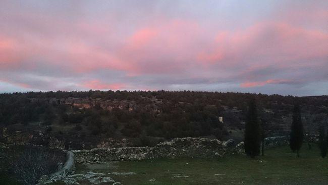 Anocheciendo en Pedraza
