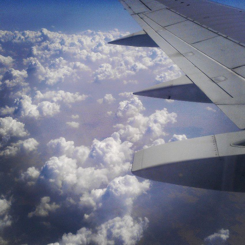 Clouds Clusters Airplane Beautiful formation sky pakistan tour