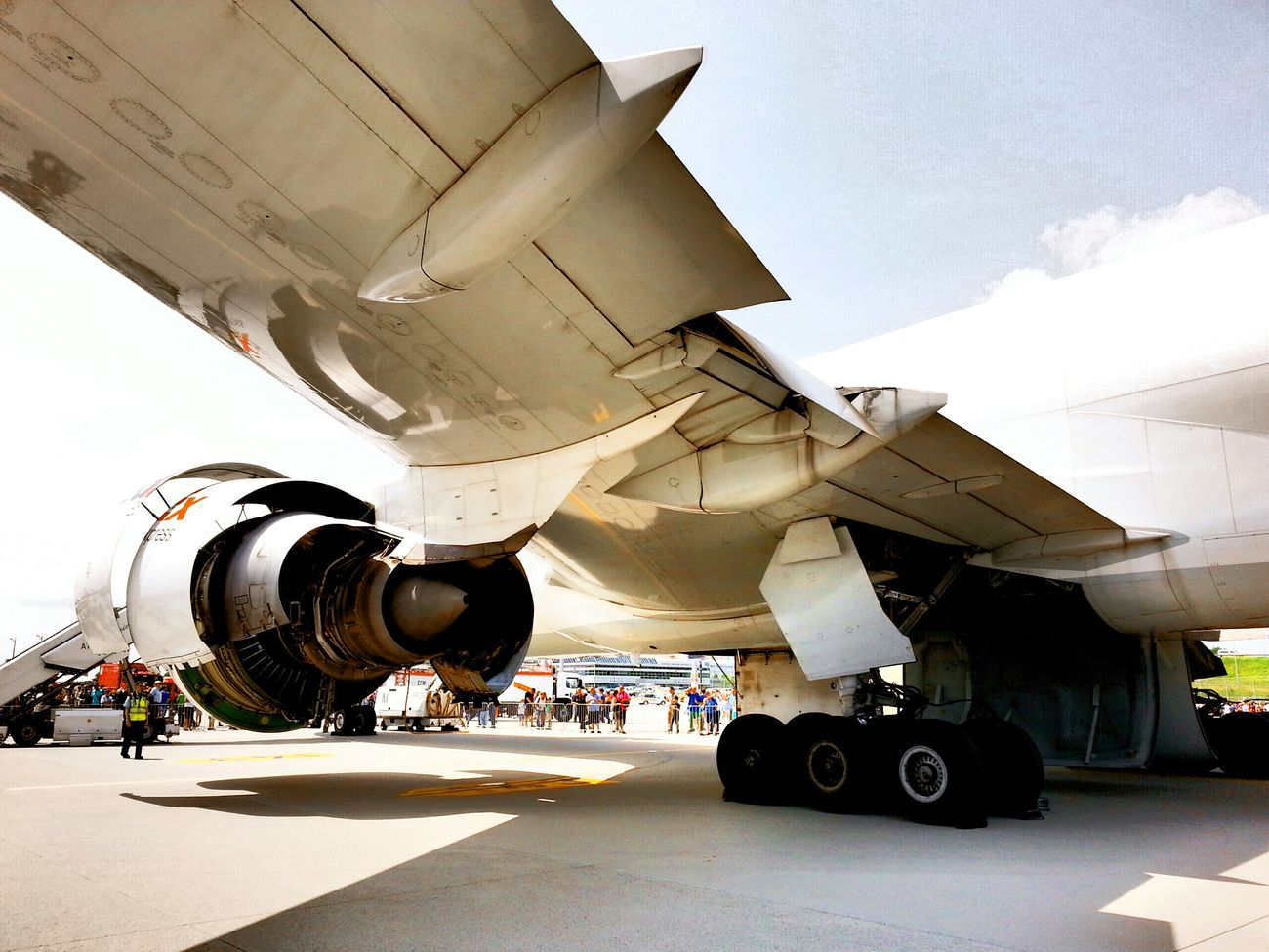 Airport Day Boeing 777 Freighter FedEx Munich Airport Under The Wing