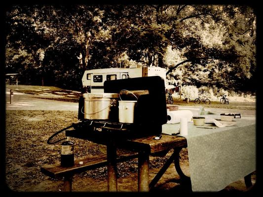 2 Pot Cookin' at St. Francois State Park by Onkel Art