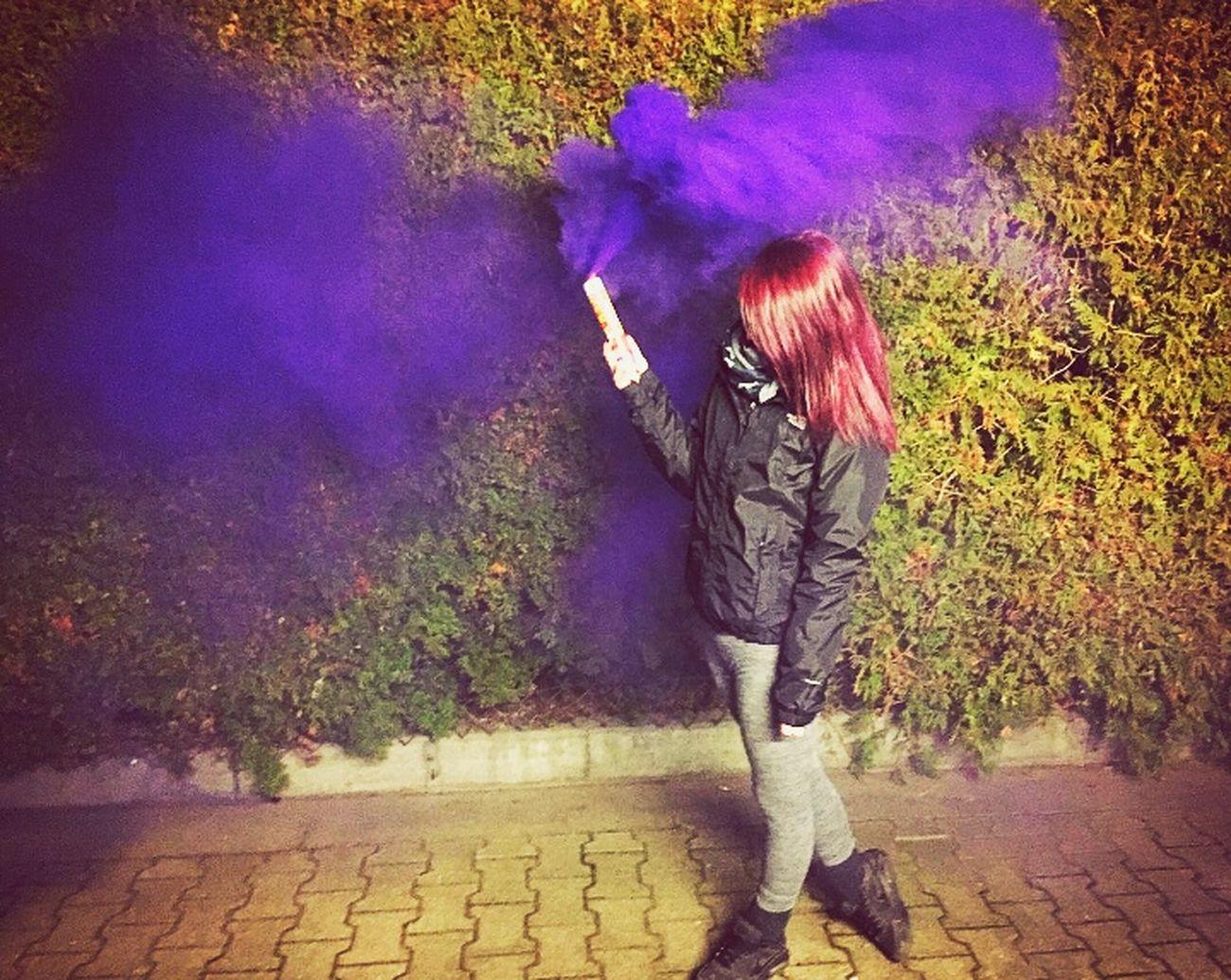 Purple Smoke Pyrotechnics