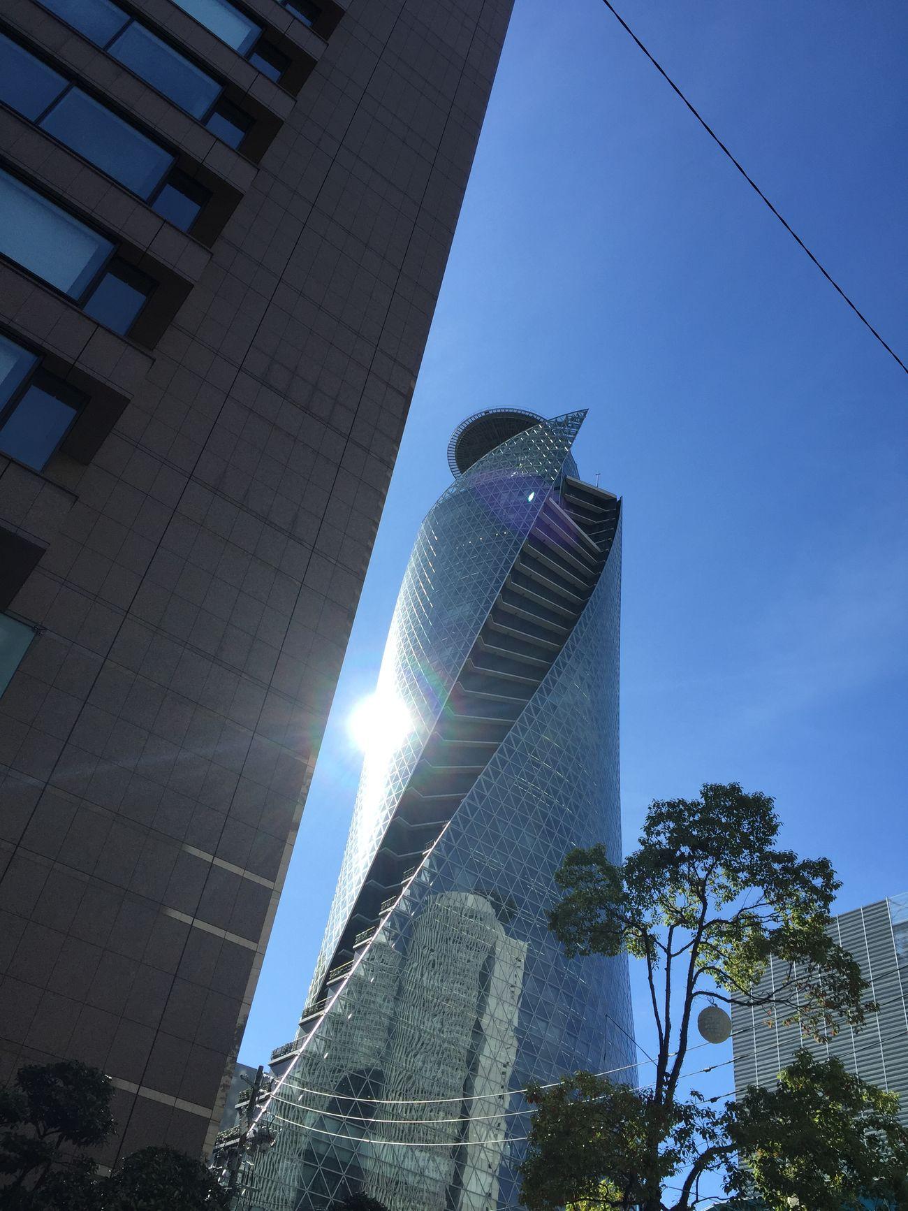 空 Sky 青空 Blue Sky ビルディング Building 反射 Reflection 太陽 Sun