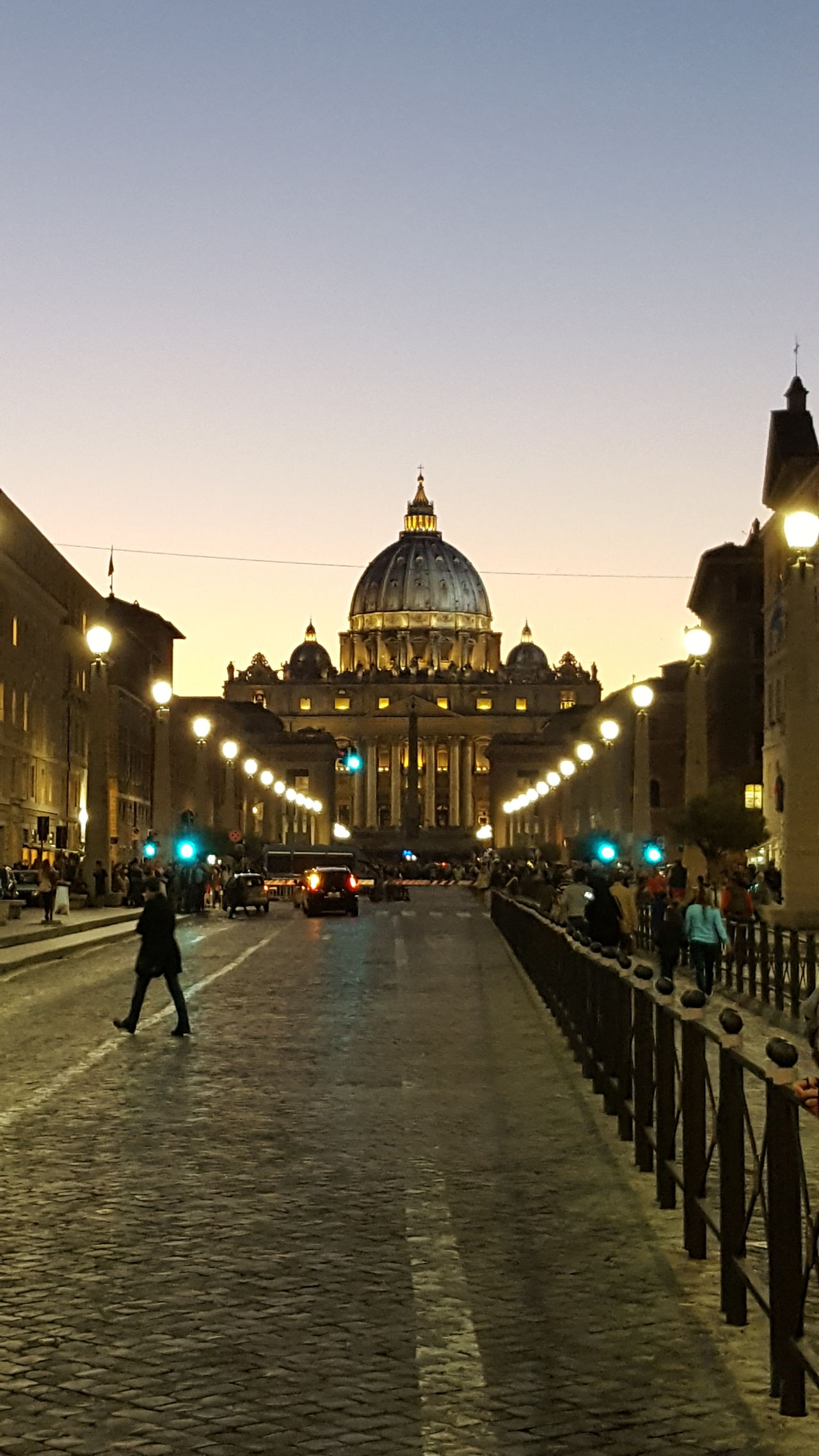 Pope Cityscape Dome Outdoors Architecture Rome, Italy Rome By Night Travel Destinations Illuminated Vaticano City City Travel Architecture Sunset