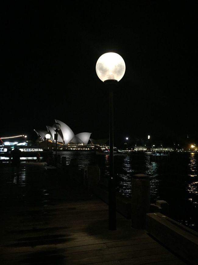 Cities At Night Sydney Opera House Sydney Moon Nightphotography Night Lights Shootermag Mobilephotography IPhoneography Eye4photography