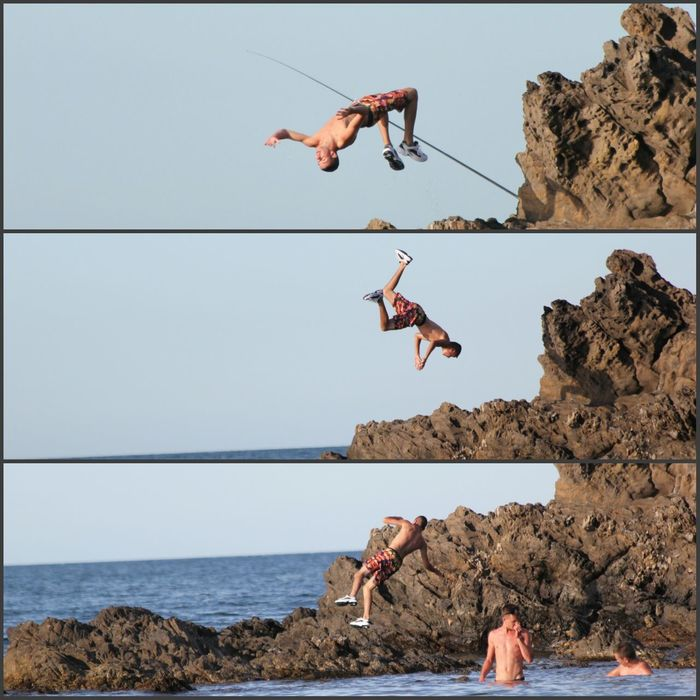 Photography In Motion Salto Jumping Sea Beach Triptych Boy