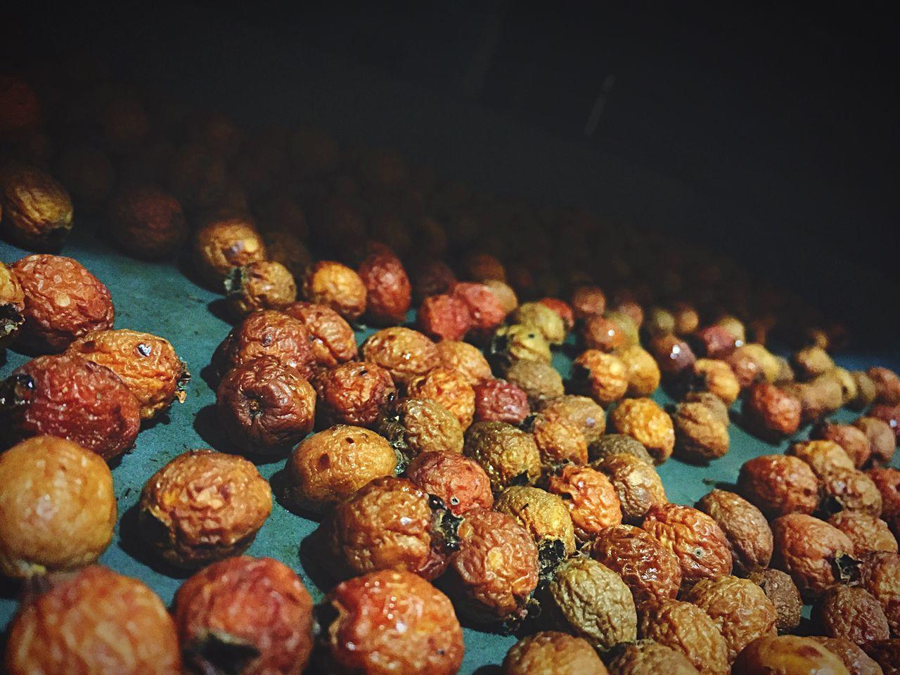 Tilt Shot Of Dried Fruit On Table