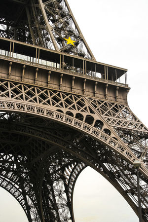 Etoille Eiffel Tower France Architecture Built Structure Close-up Engineering Metal Monochrome No People Tourism Travel Travel Destinations Yellow Star EyeEmNewHere