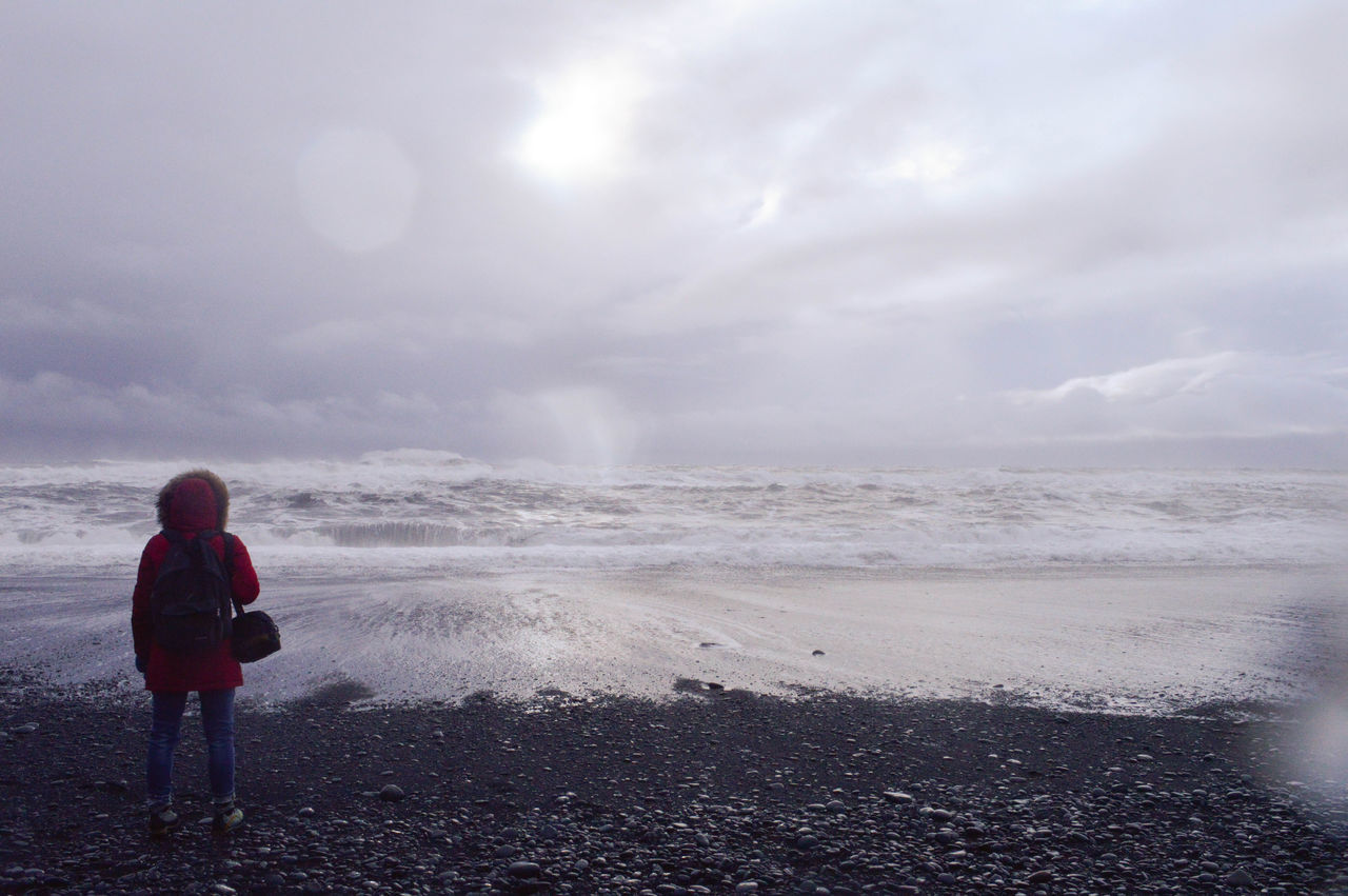 Beach Breath Clouds Endoftheworld Iceland Life Nature Ocean People Sea Sky Sky And Clouds Sun Wave