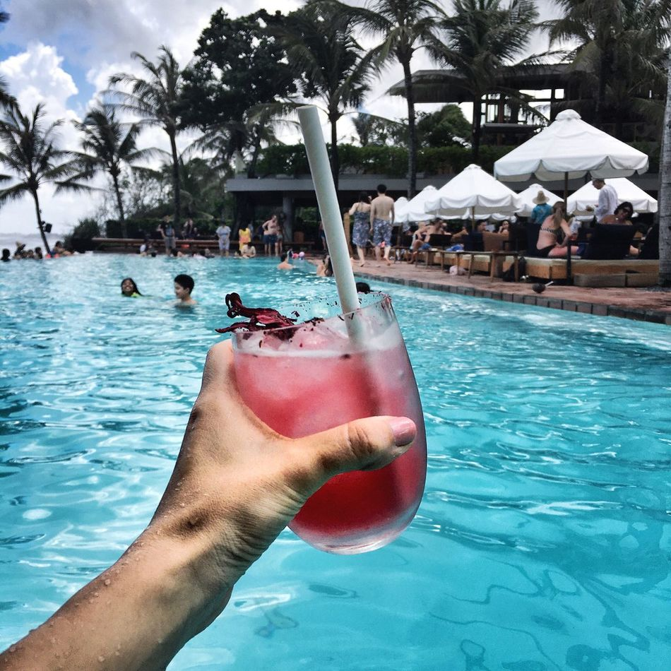 Drink In The Pool Margaritas Girl Holding A Drink Pink Drink Vacation Holiday