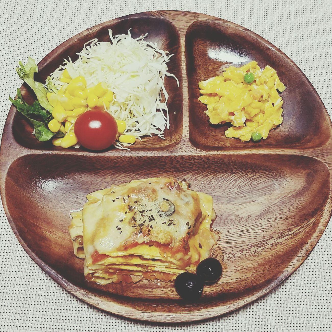 来月から行ってしまう👮...😢 私も仕事辞めて行こうかな✈ Food Plate Frijol Frijole Tomato Olives Oliva Comidas Huevos Revueltos Scrambled Eggs Lasagna Lasaña