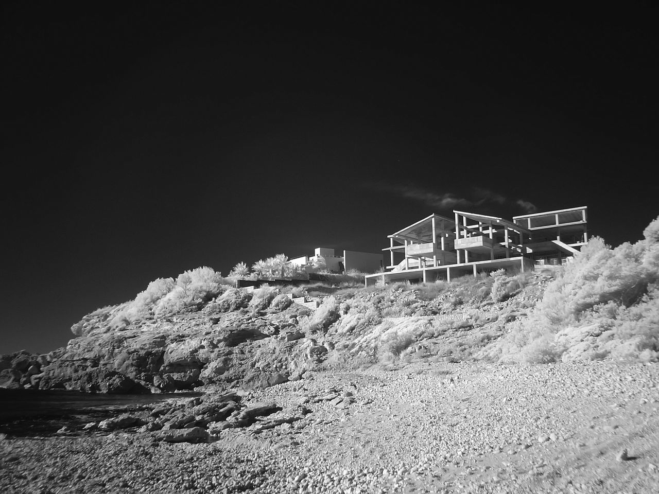 Beach Building A House On The Coast Day Infrared Photography No People Outdoors Sky