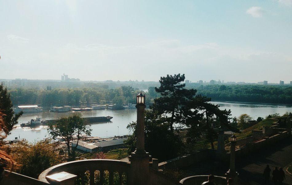 Spraying Water Tree Day Outdoors No People Sky City Nature Belgrade,Serbia Riverside