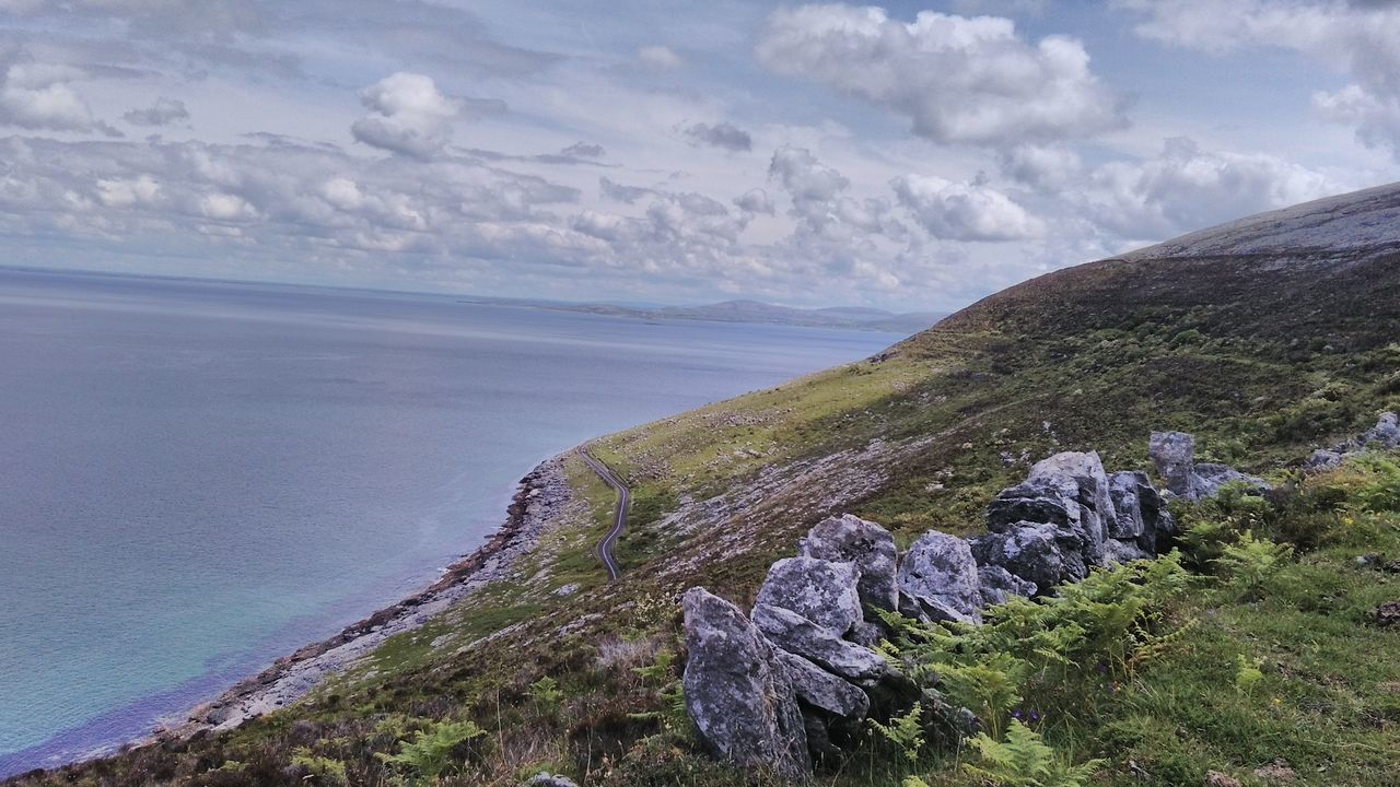Sea Landscape Beauty In Nature Vacations Horizon Over Water Outdoors Tranquility Cliff Scenics Freshness Fanore, Ireland Ireland Is Beautiful Ireland🍀 Taking Photos Galway Fishing No Filter Hdr Photography No Edit/no Filter EyeEm Best Shots Purist No Edit No Filter