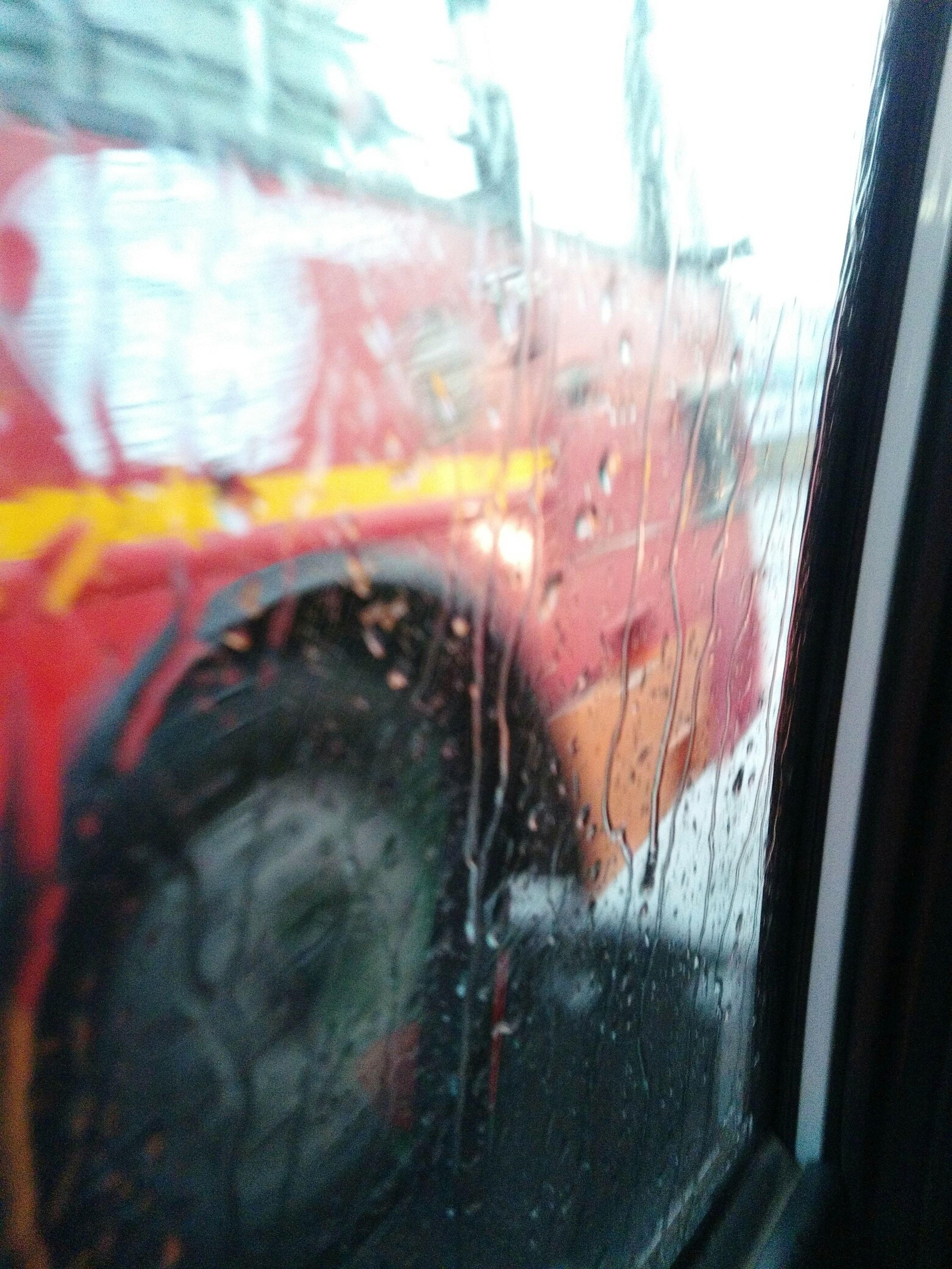 window, glass - material, transparent, indoors, vehicle interior, transportation, close-up, car, land vehicle, wet, mode of transport, reflection, car interior, looking through window, glass, part of, windshield, rain