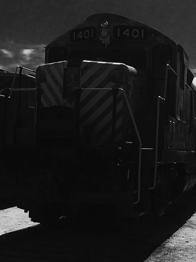 Monochrome Photography Freight Transportation Transportation Mode Of Transport No People Outdoors Photograpghy  Weekend Activities Train Museum Train EyeEm Gallery Train Engine Campo Ca Southern Pacific Railroad. IPhoneography Railroad Track Transportation Metal