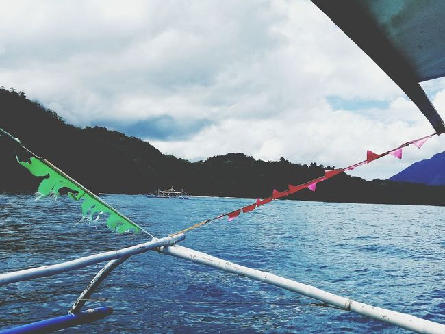 Cloud - Sky Rope Day Water Outdoors No People Sky Nature EyeEmNewHere Nature Sailing Ship Scenics Mountain Blue Transportation Philippinesphotography Beauty In Nature 2017 Beach EyeEm Best Shots - Nature Vacations
