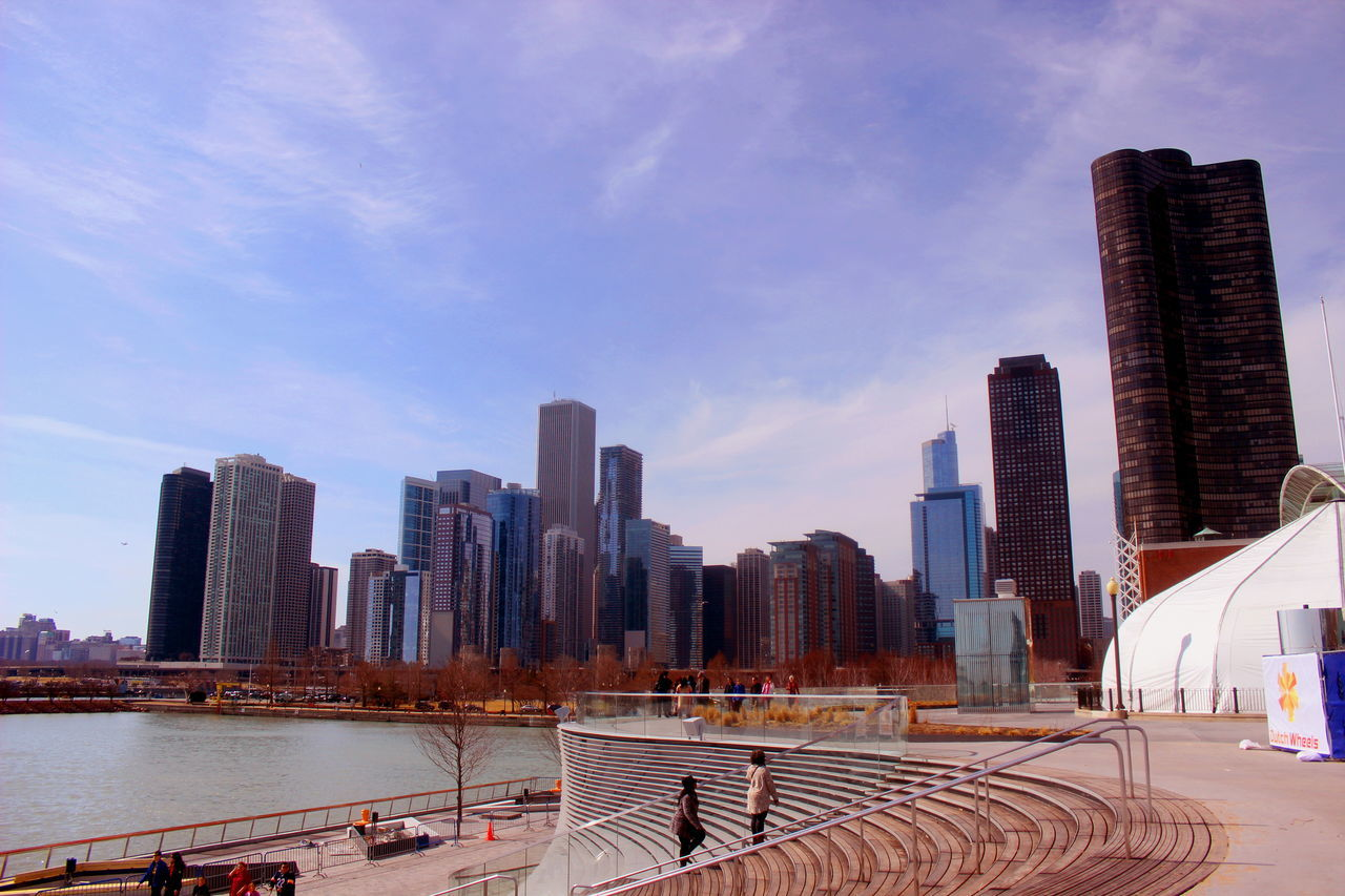 America Architecture Chicago City City Life Cityscape Illinois Lake Lake Michigan Navy Pier Outdoors Sky Skyline Skyscraper Stairs Steps Tower Trump Tower United States