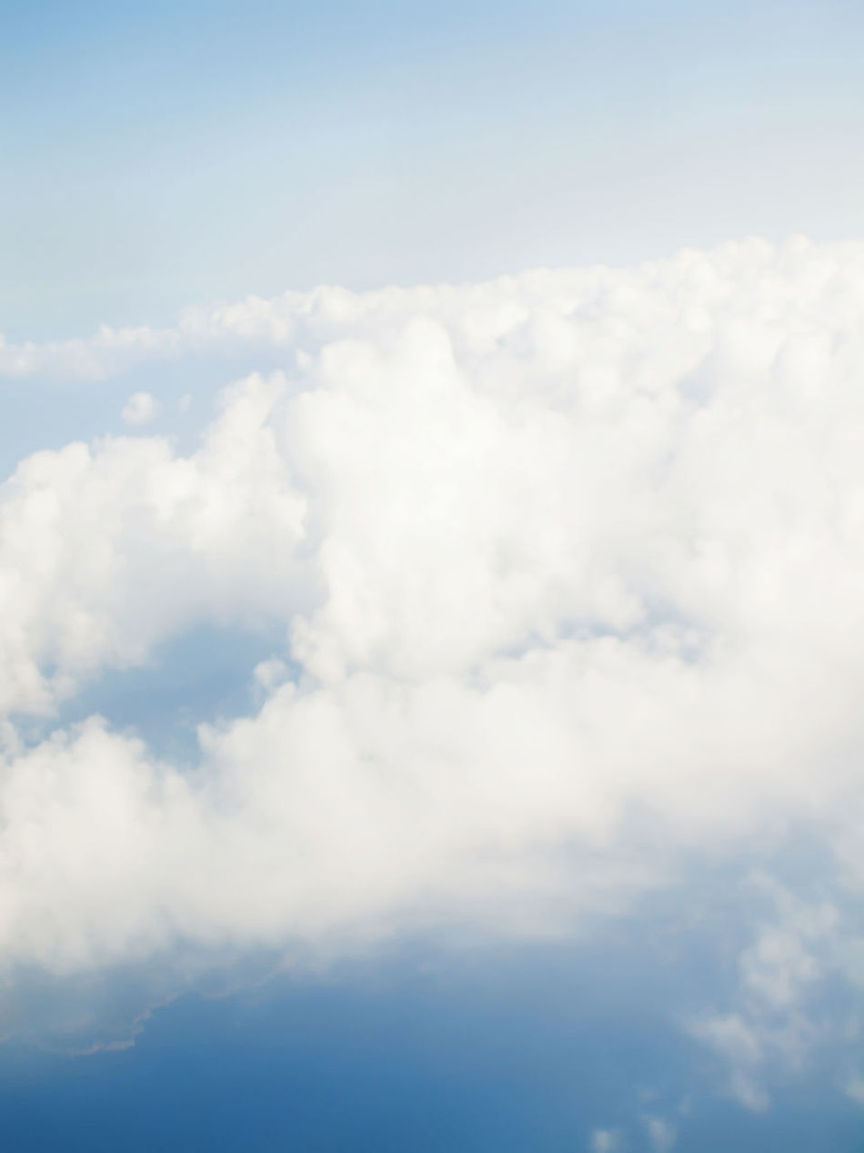 Backgrounds Beauty In Nature Cloud - Sky Cloudscape Cumulus Cloud Day Flight Fluffy Heaven Nature No People Outdoors Scenics Sky Sky Only Tranquility Weather White Color