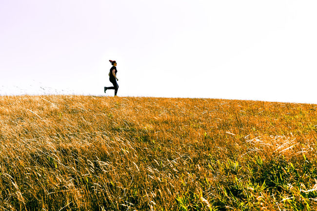 Halde ND Run Beauty In Nature Casual Clothing Clear Sky Day Field Full Length Grass Grassy Growth Halde Hill Horizon Over Land Idyllic Landscape Leisure Activity Lifestyles Nature Non-urban Scene Outdoors Remote Ruhrgebiet Rural Scene Scenics The Great Outdoors - 2016 EyeEm Awards The Great Outdoors With Adobe