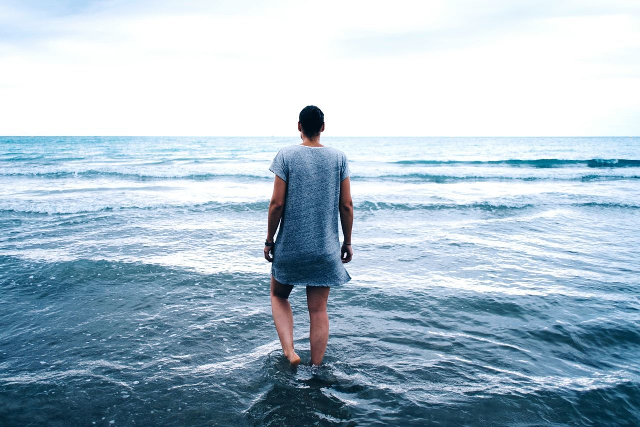 Beautiful stock photos of water, Ankle Deep In Water, Beach, Beauty In Nature, Casual Clothing