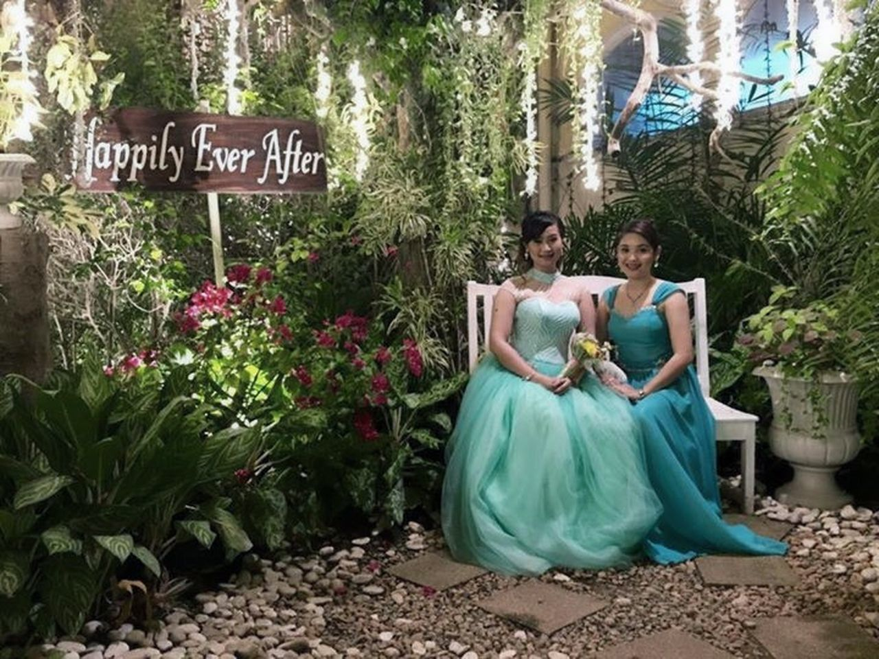 Beauty Bridesmaids Casual Clothing Day Green Color Growth Happily Ever After Information Information Sign Lifestyles Mint Green Nature Outdoors Pinaybeauty Plant Princess Tree Tree Trunk