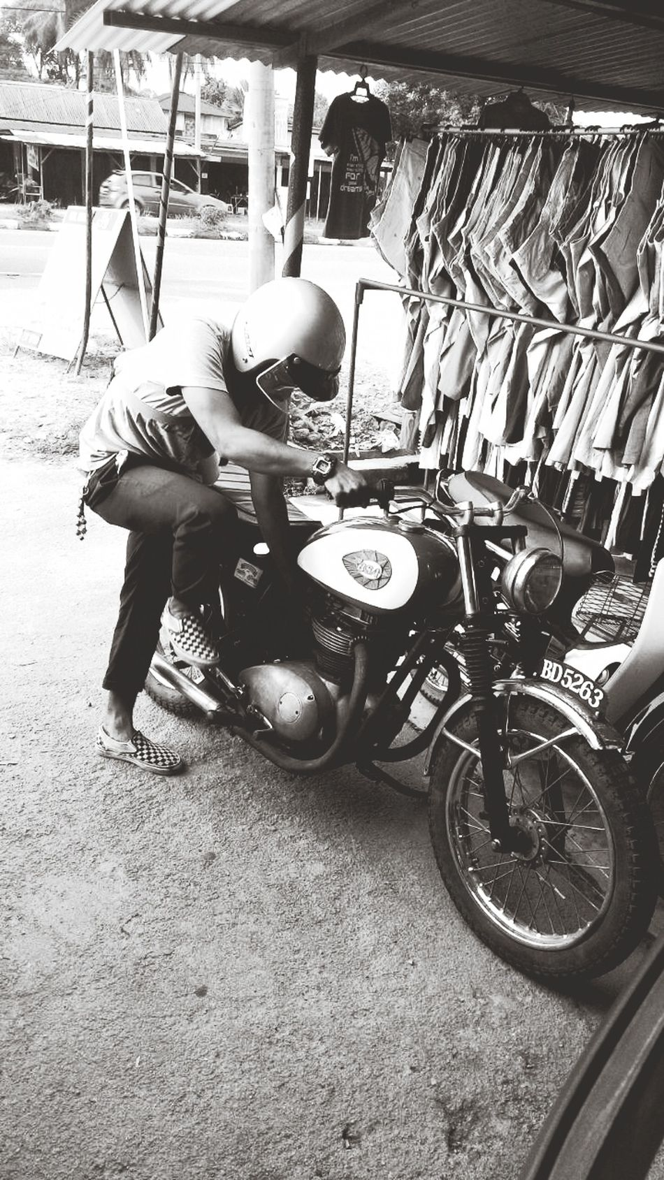 Bsa Racing Motorcycle , i love my vans , Perfect Imbalance ,