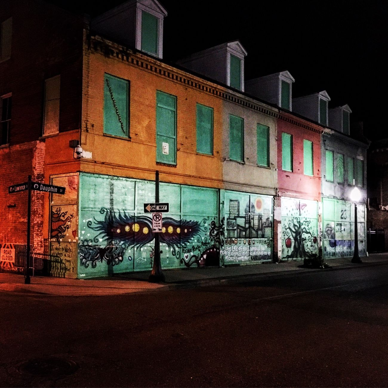 Dauphin Street - Mobile, AL - 01/2016 Graffiti Graffiti Art Mobile Alabama  Dauphin Street Night Walk Street Light