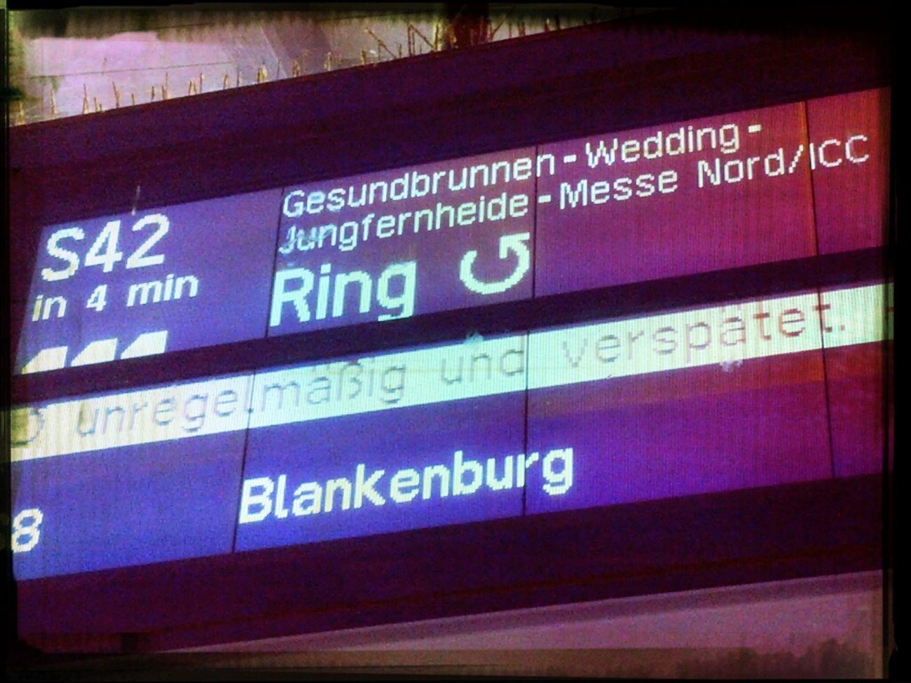 Commuting Sbahn Verspätet Unregelmäßig