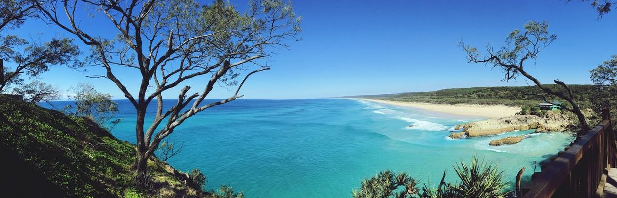 Beach Stradbroke Island Ocean Ocean View Panoramic Photography