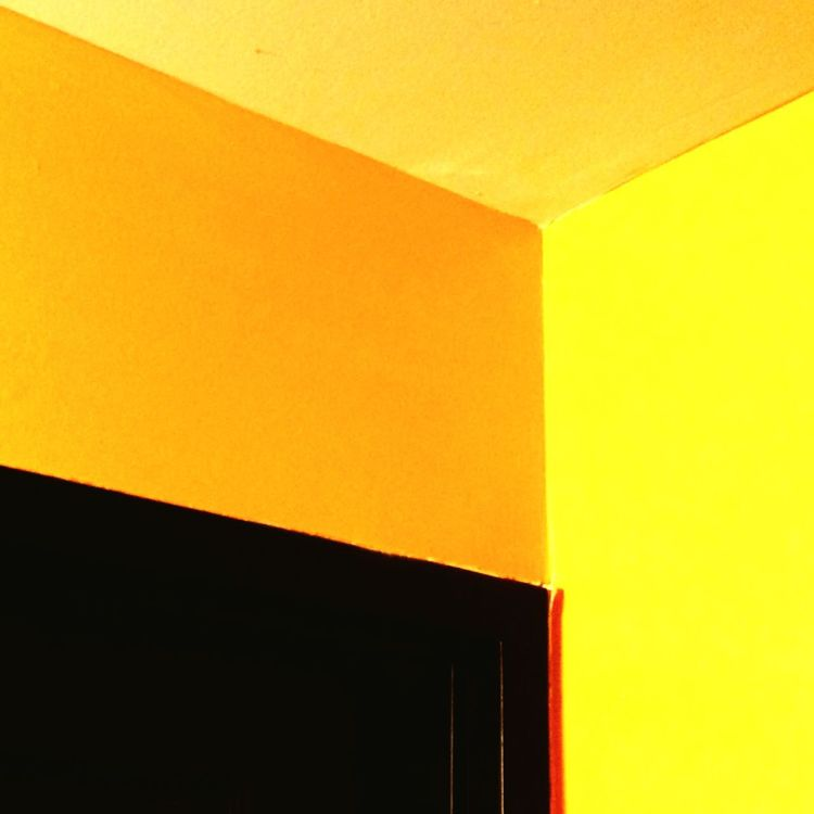 Abstract Walls Yellow Geometric Shapes Sandytoesstudio TracyAWeiss