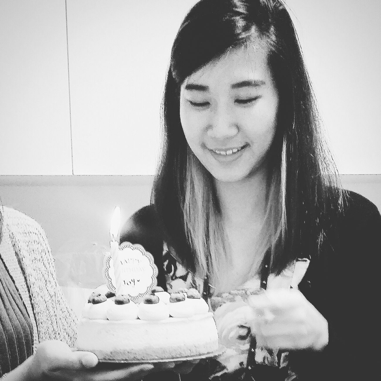 Handed a birthday cake by her bestie Joy 22 Years Old Woman Young Woman Colleague Office Birthday Celebration Cake Candle Bnw Bnw_captures Bnw_life Bnw_streetphotography Streetphotography EyeEm Gallery Eyeem Photography EyeEm Bnw Singapore
