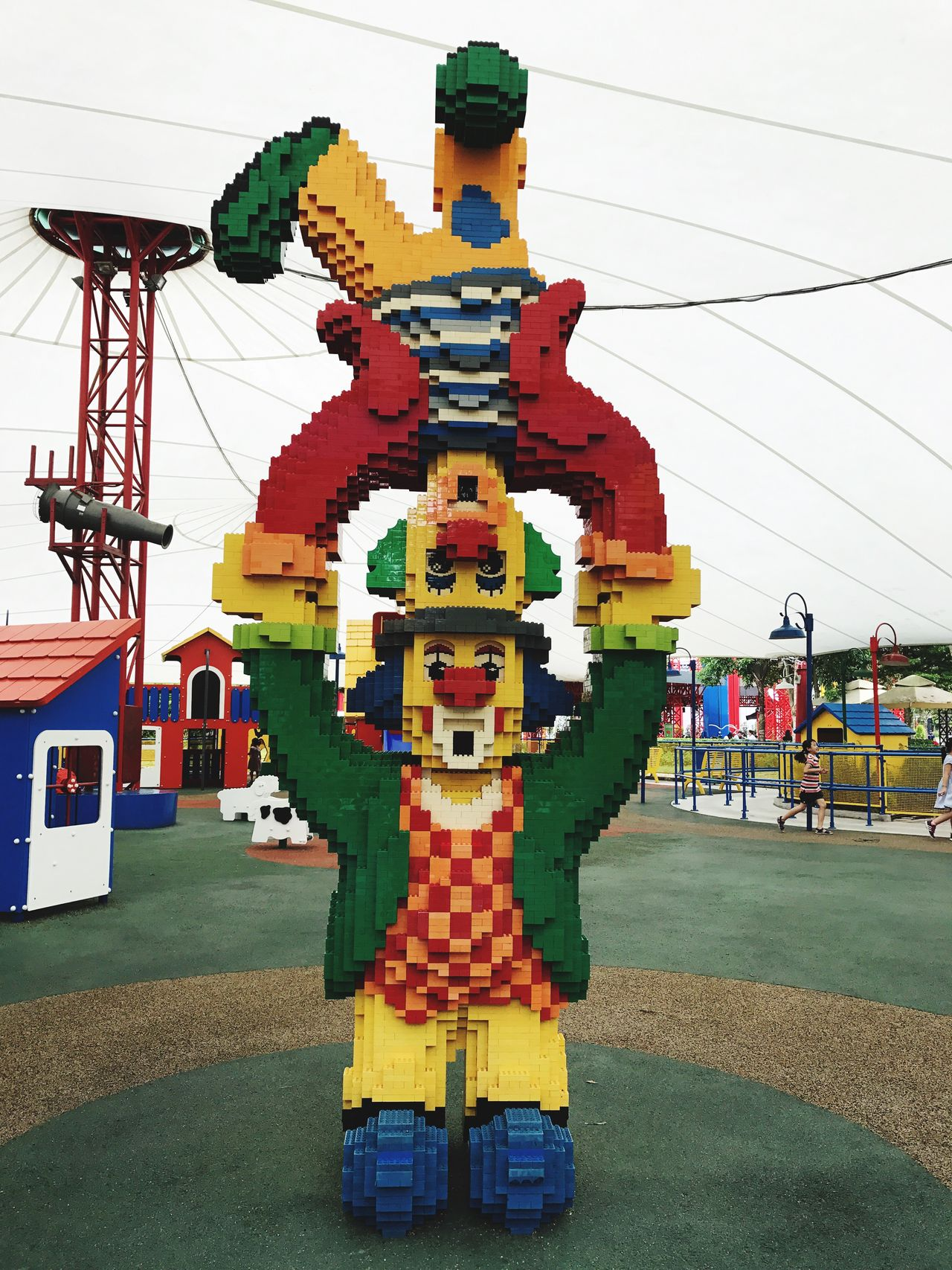 Multi Colored Built Structure Grass Day Amusement Park Outdoors Architecture No People Sky LEGO Legophotography