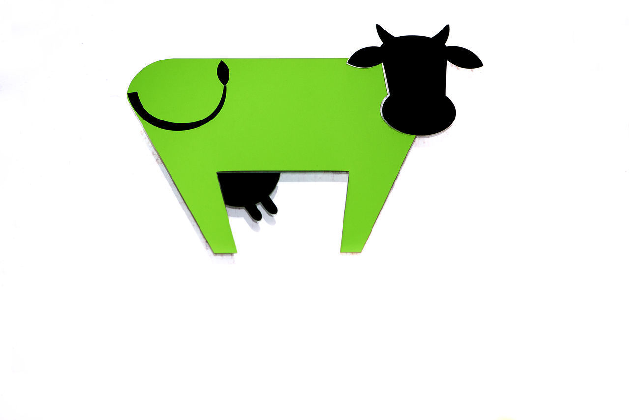 green cow Agriculture Animal Themes Day Eco Ecological Reserve EyeEmNewHere Farm Farming Food And Drink Green Cow GREEN LIFE Healthy Eating Lifestyles Low Angle View Mammal Milk Milky Way No People Sign Symbol Symbolism Vegan Vegetarian White Background