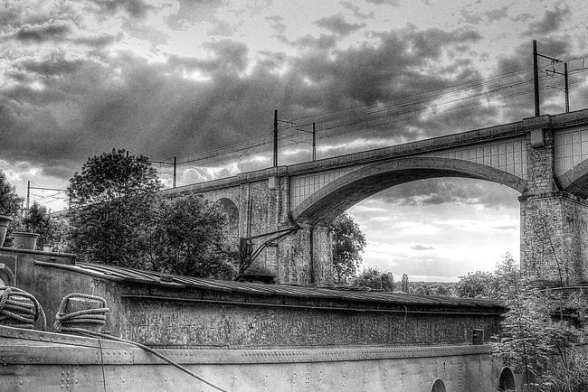 France Saint Mammės Riverside Landscape Monochrome Black And White Light And Shadow Clouds And Sky
