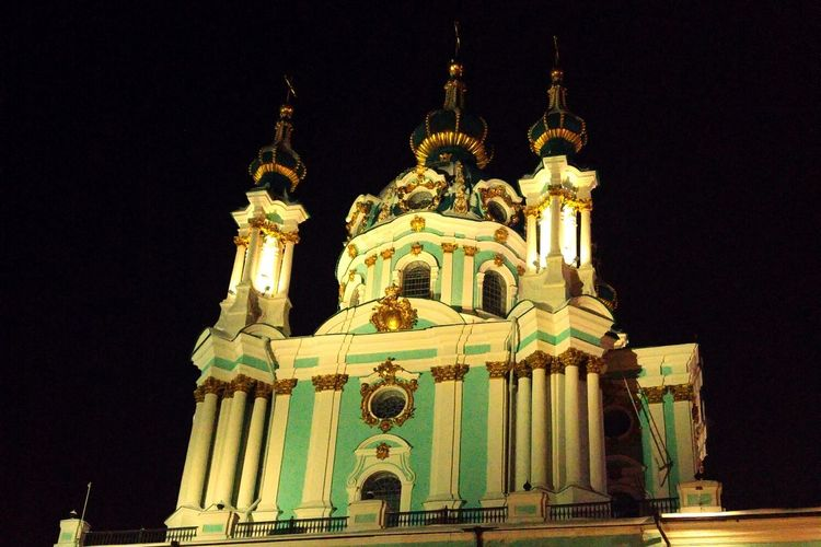 Night Religion Architecture Travel Destinations Low Angle View Outdoors Illuminated
