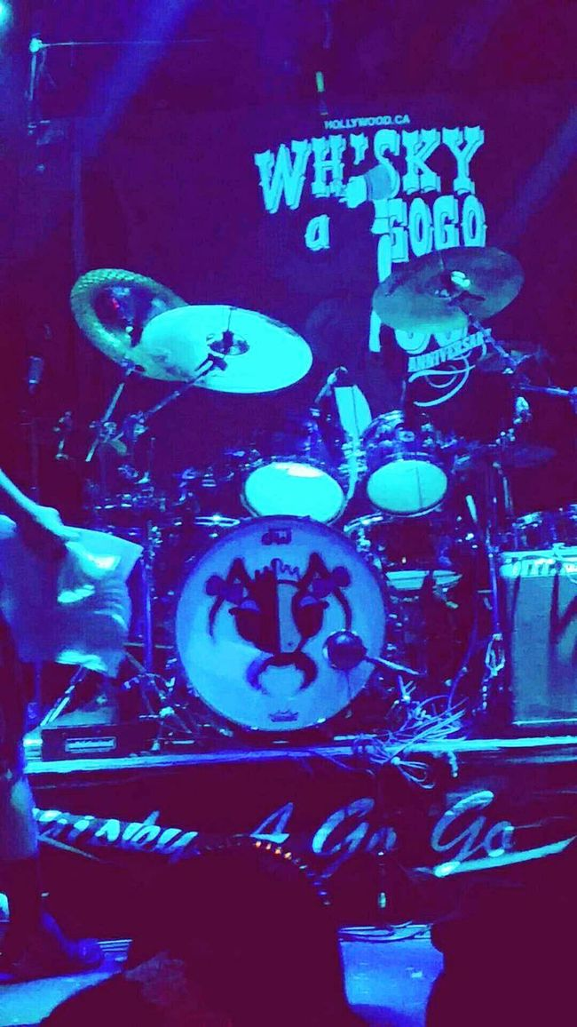 Alien Ant Farm drum set up at the Whisky A Go Go California Live Music Hollywood Justtakingpictures GoodTimes Rock Music