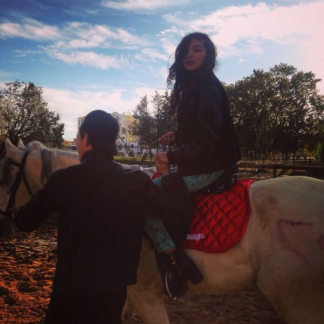 Horse Riding HadFun Hanging Out Withfriends