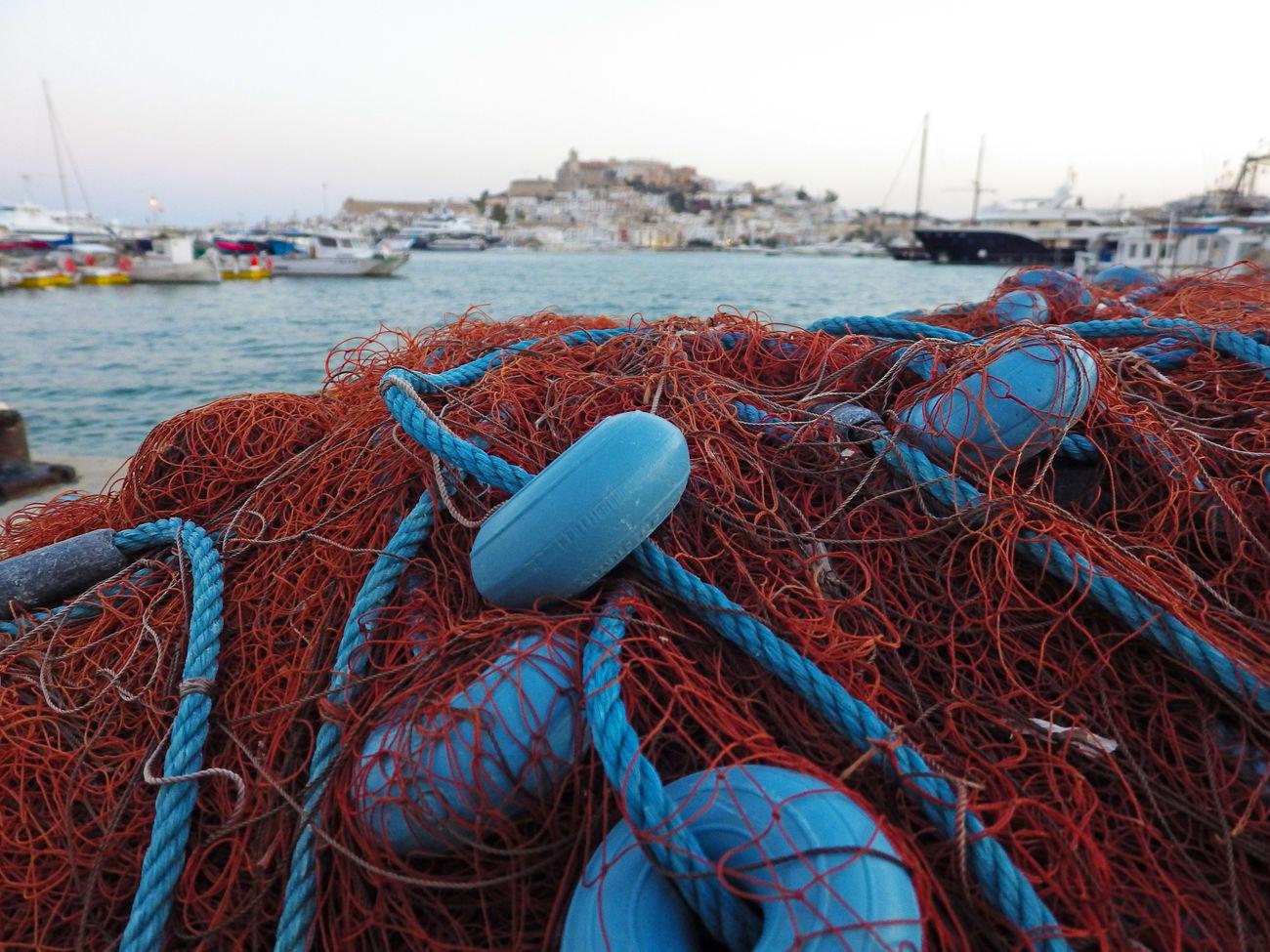 Caught in the nets Dalt Vila Landscape Nets Sea