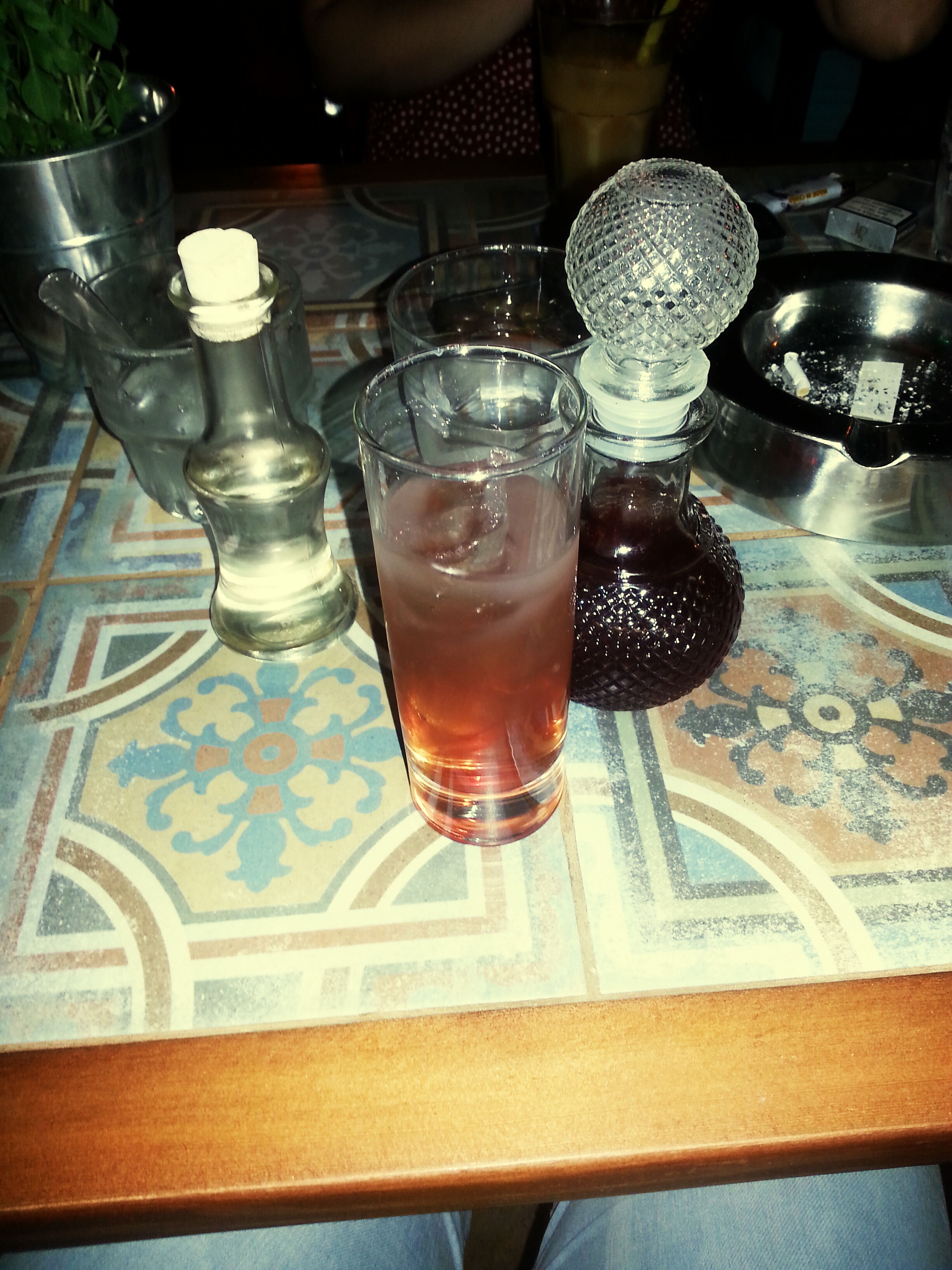 Old Fashioned Nightbeforeexams Drinking Ouzo With Cherry Juice