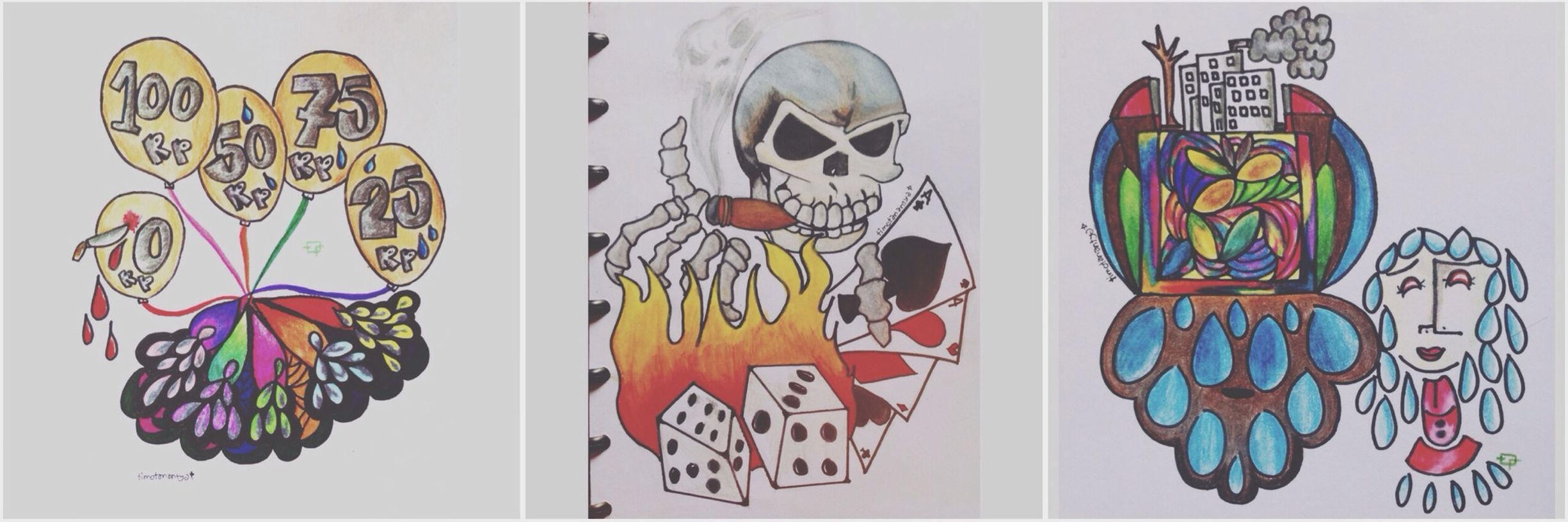 Hell Yeah Drawing Enjoying Life Street Art by Timot Anantya :))