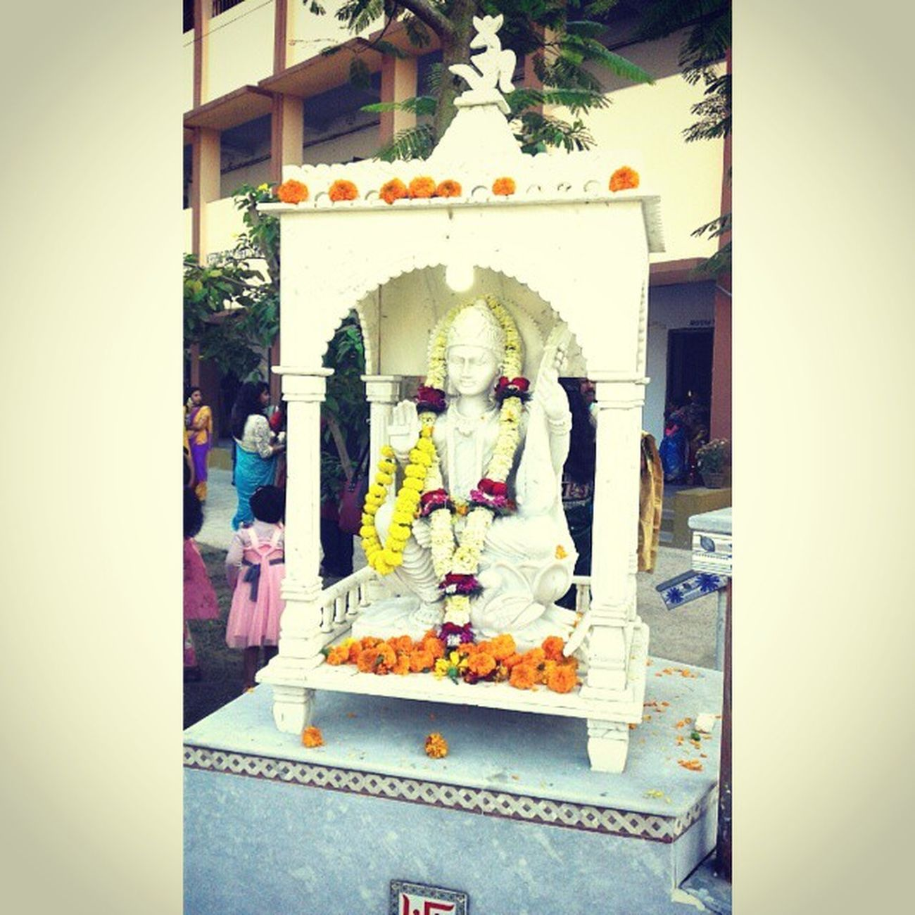 Deity Saraswati Puja Divine Atreyee Dav School Instaupdate Lategram Photomania Photo_For_Like_Comment_Share .