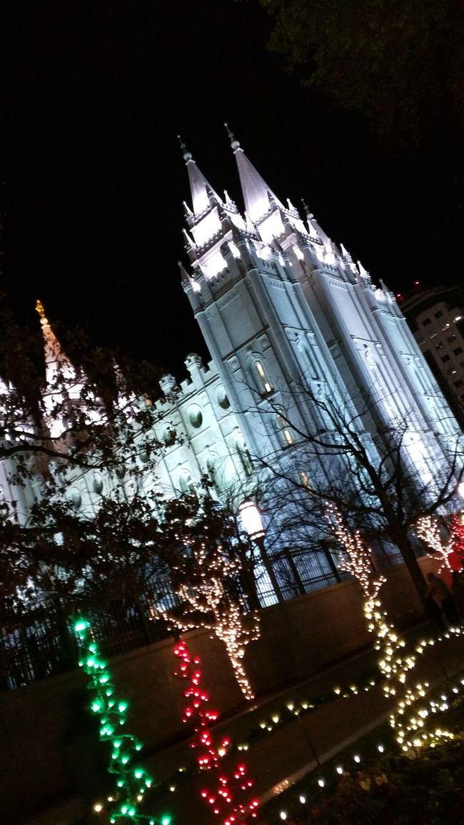 Salt Lake Temple Christmas Reflection Mormon Salt Lake City Lds Temple Temple Square