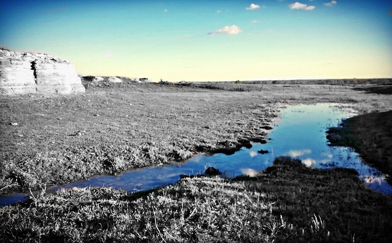 Kansas Sky Outdoors Water Beauty In Nature No People Tranquil Scene Landscape Close-up Creekside Trail Colorsplash