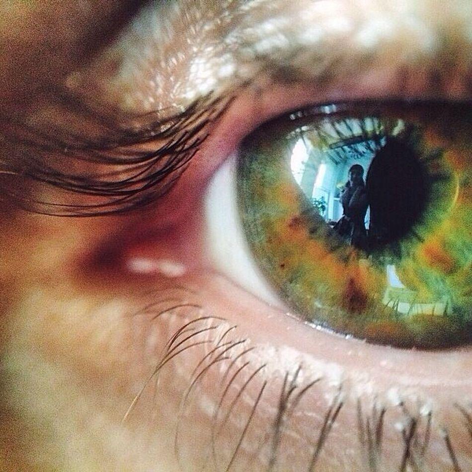 Arkadasin objektifinden benim gözüm.? Green Eyes Macro Myeyes Green